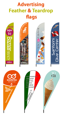 custom advertising flags feather flags teardrop flags. Black Bedroom Furniture Sets. Home Design Ideas
