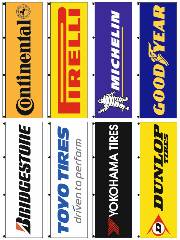 advertising company flags 80x250cm