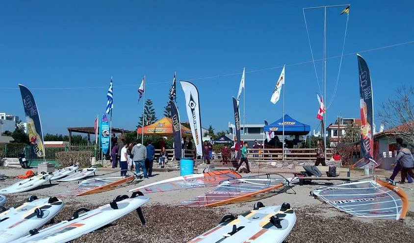 beach flags for a windsurfing event