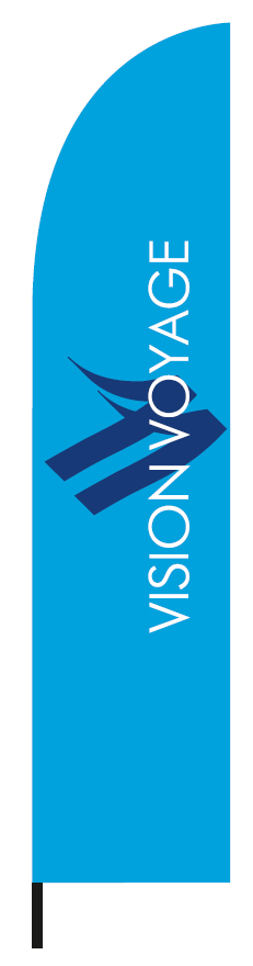feather flag 60x260cm for the company VISION 1