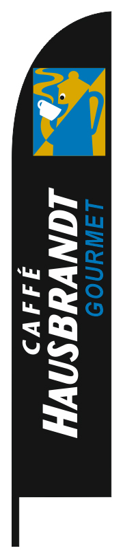 Feather flag 70x340cm for HAUSBRANDT GOURMET COFFEE