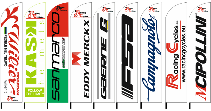 feather flags70x340cm for the company RACING CYCLES
